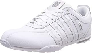 #K. Swiss Arvee 1.5 Blanc Blanc Gris Hommes Cuir Formateurs Chaussures