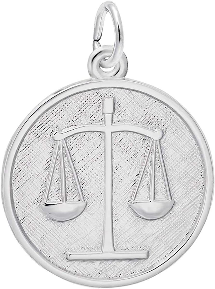 Rembrandt Charms Scales of Justice Charm