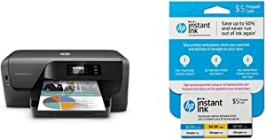 HP OfficeJet Pro 8210 Wireless Printer with Mobile Printing (D9L64A) and Instant Ink Prepaid Card for 50 100 300 Page per Month Plans (3HZ65AN)