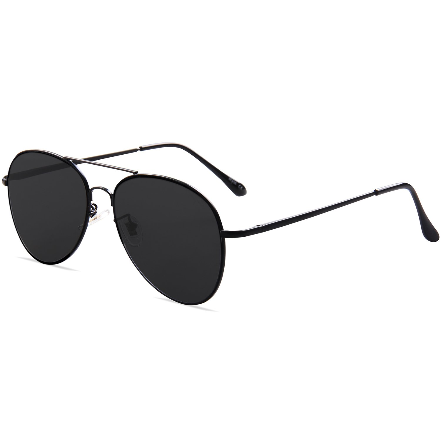 b4b41722727 SojoS Classic Aviator Metal Frame Mirror Lens Sunglasses with Spring Hinges  SJ1030 With Black Frame Grey Lens  Amazon.co.uk  Clothing
