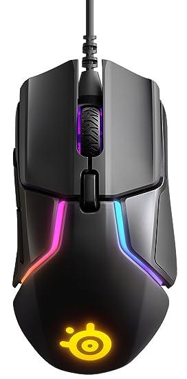 SteelSeries Rival 600 Gaming-Maus, TrueMove3+ Dual Optical Sensor, 0,05 Lift-off-Distanz, Gewichtssystem, RGB-Beleuchtung