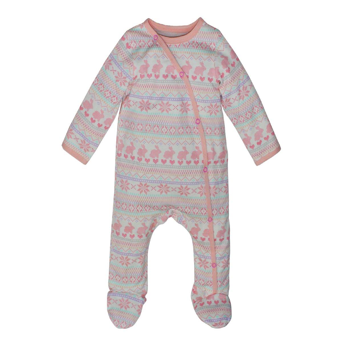 894dd8728 Kadambaby- Pink Bunny Babyody Suit Footed Romper Newborn Sleepsuit ...