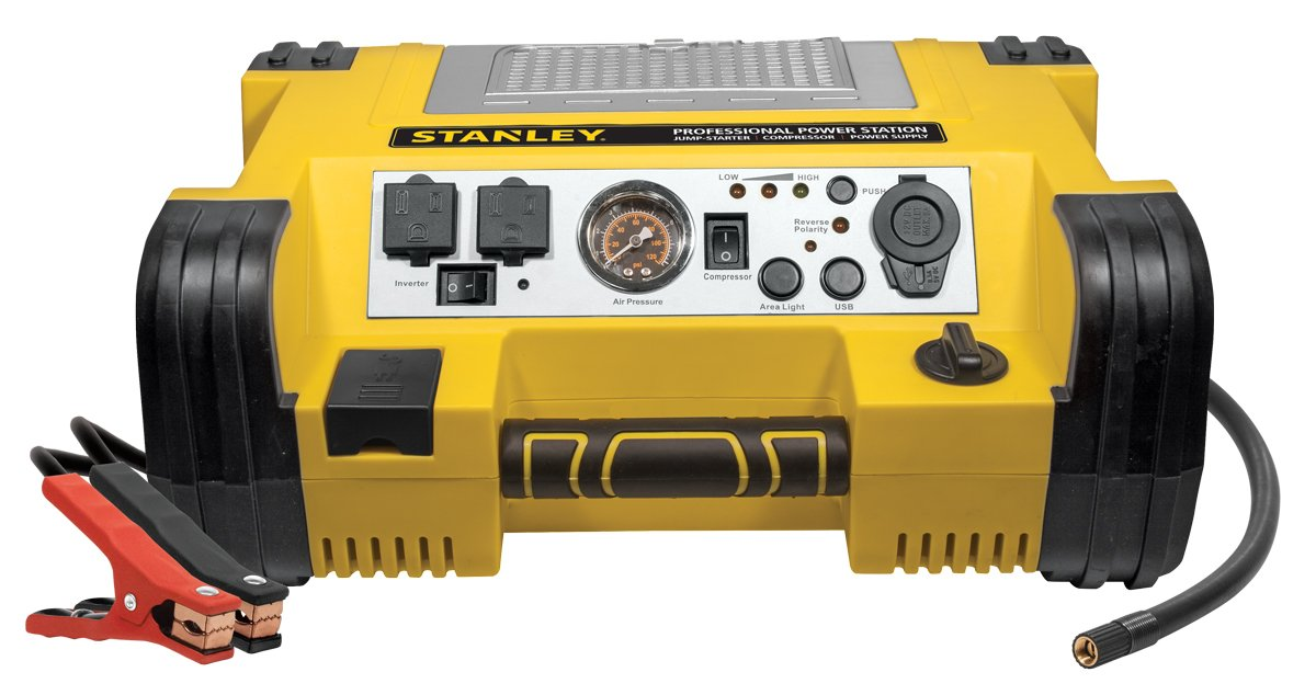 Stanley PPRH5 450-Amp Professional Power Station with Built-In Air Compressor