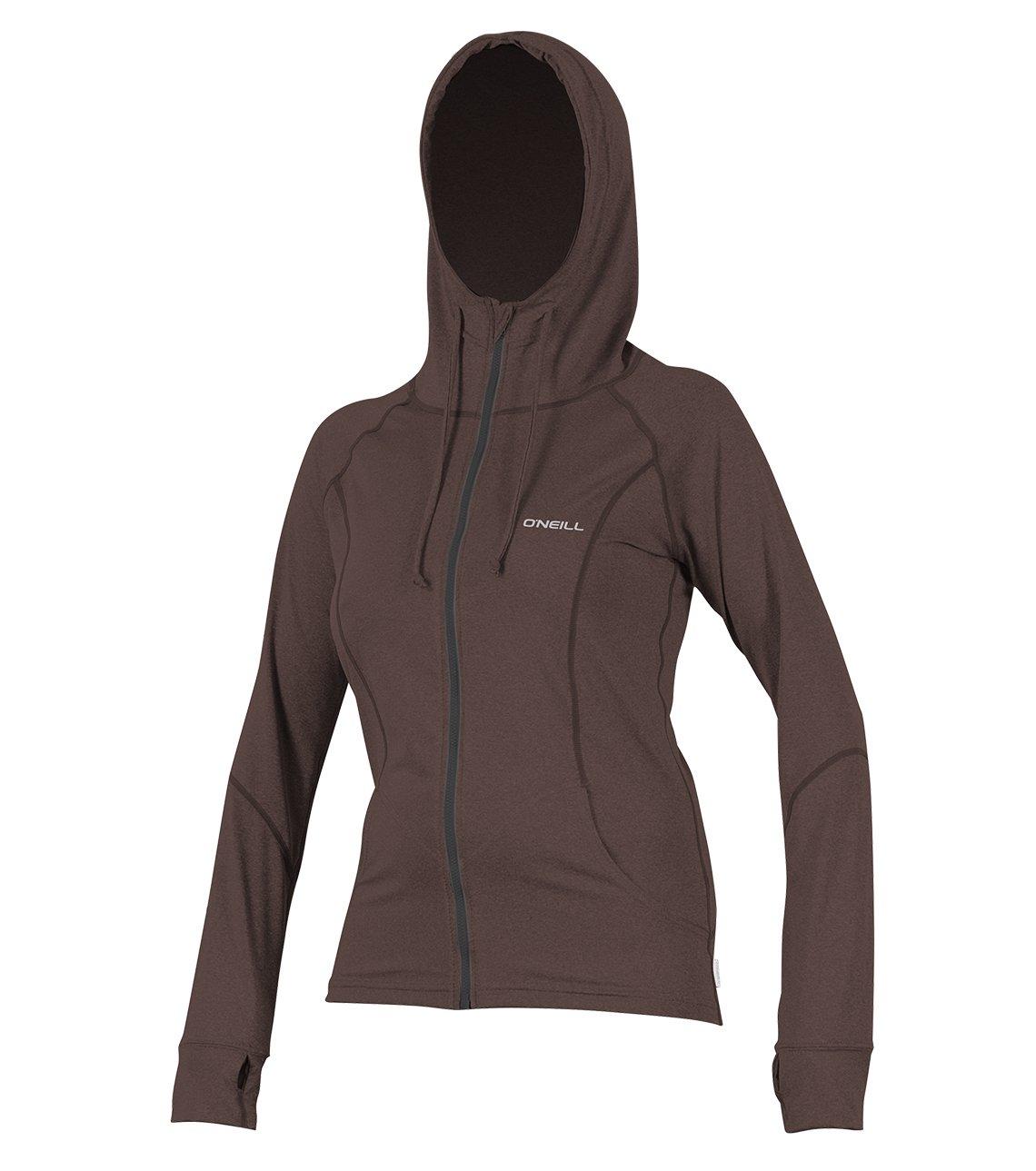 O'Neill Women's Hybrid UPF 50+ Long Sleeve Full Zip Sun Hoodie, Pepper, Small