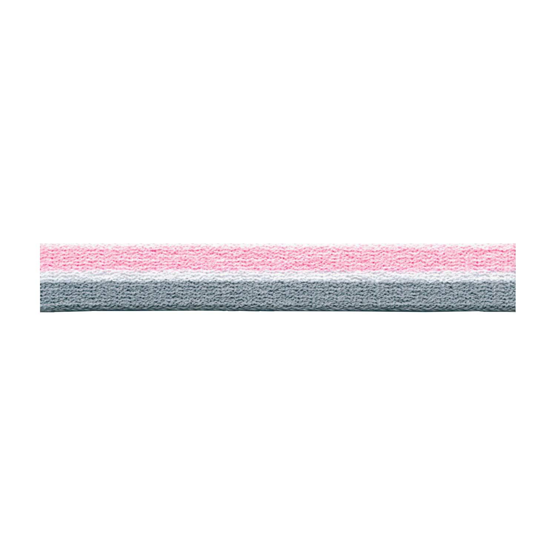 S.I.C. ストライプパイルテープ 15mm C/#20 ペールピンク×ホワイト×チャコール 1反(30m) SIC-1201   B07LFXYFLM