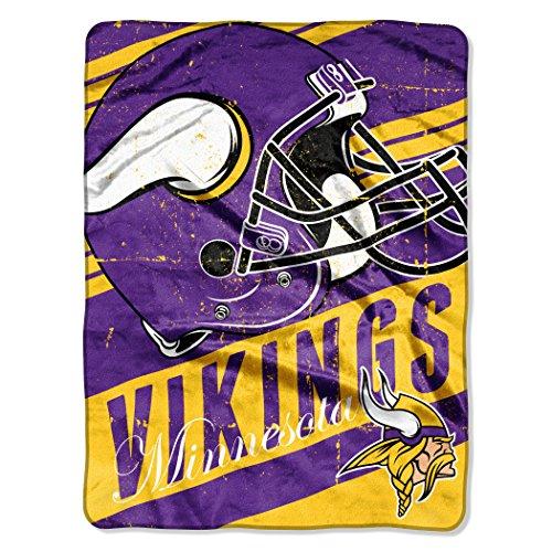 Minnesota Vikings Comfy Throw - The Northwest Company NFL Minnesota Vikings Deep Slant Micro-Raschel Throw, Purple, 46 x 60-Inch