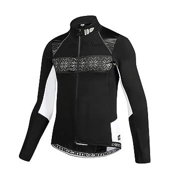 SANTIC Chaqueta Ciclismo Hombre Chaqueta Bicicleta Invierno Chaquetas Bici Chaquetas MTB Fleece adentro Negro
