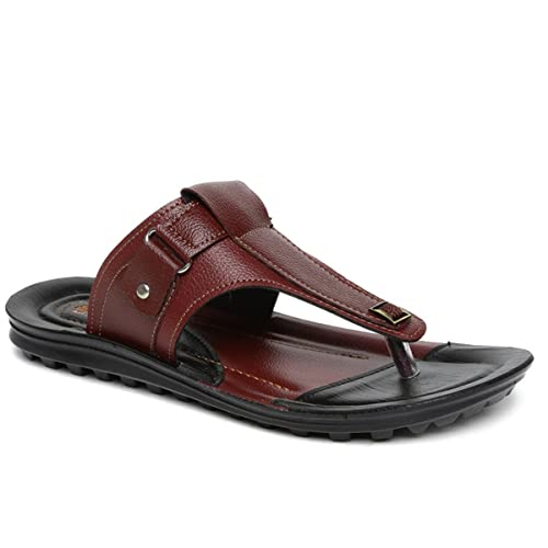 9e8b76936 PARAGON Vertex Men s Maroon   Black Flip-Flops  Buy Online at Low Prices in  India - Amazon.in