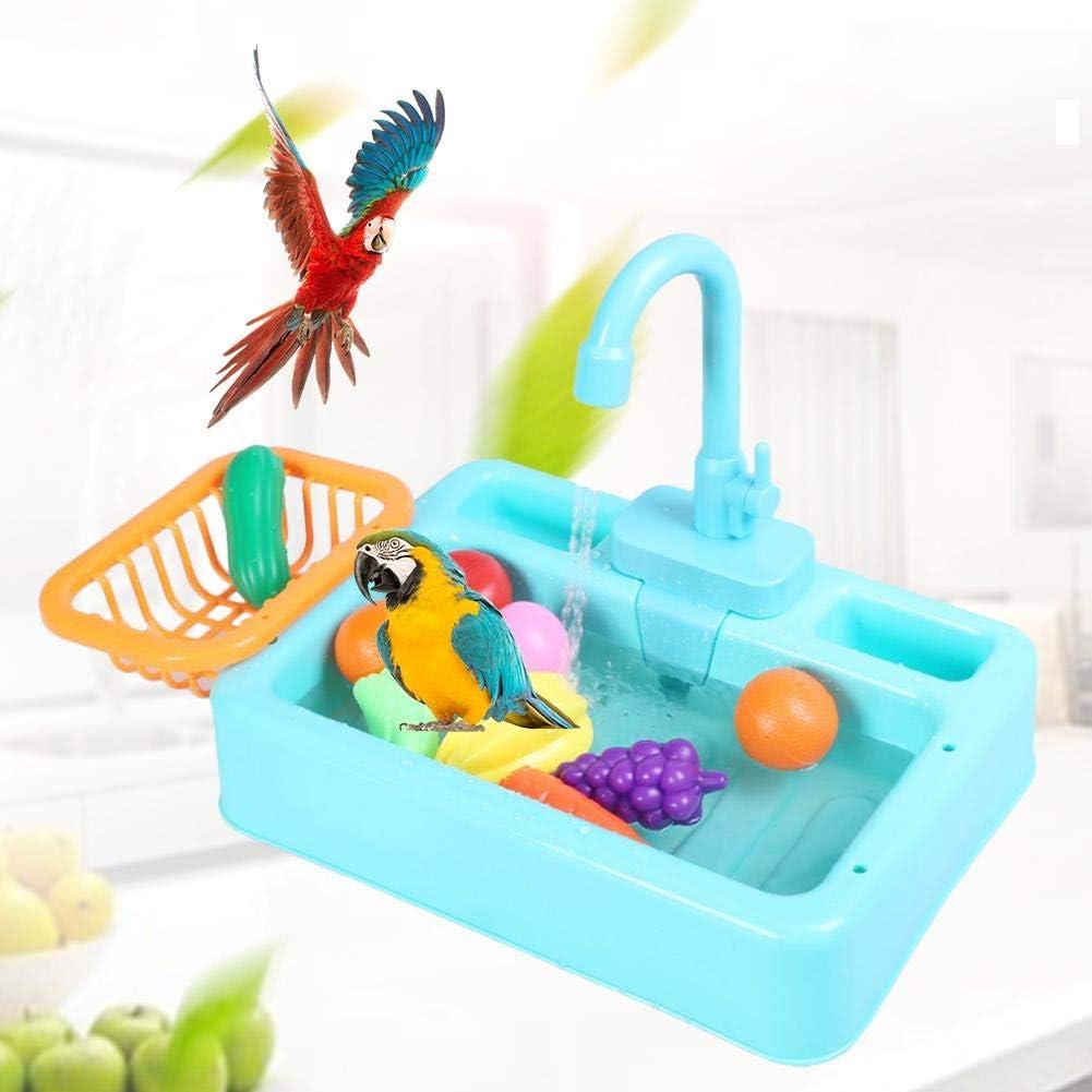 Baño De Pájaros Alimentador De Comida Con Grifo Bañera Automática Para Mascotas Loros Fuentes Spa Piscina Herramienta De Limpieza Segura Accesorio Para Atraer Pájaros Sin Batería Juguete Niños