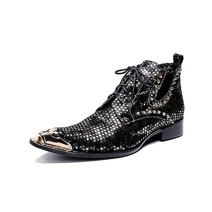 Amazon.com: Hy - Zapatos de vestir para hombre, piel de ...