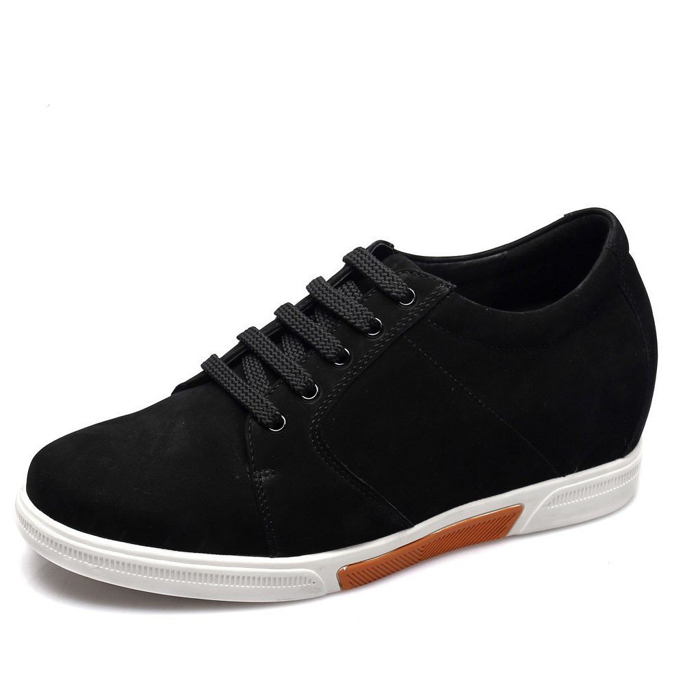 Chamaripa Men's 2.95 Inch Suede Leather Casual Shoes Make You Look Taller K70M83-1 (9 D(M),Black)