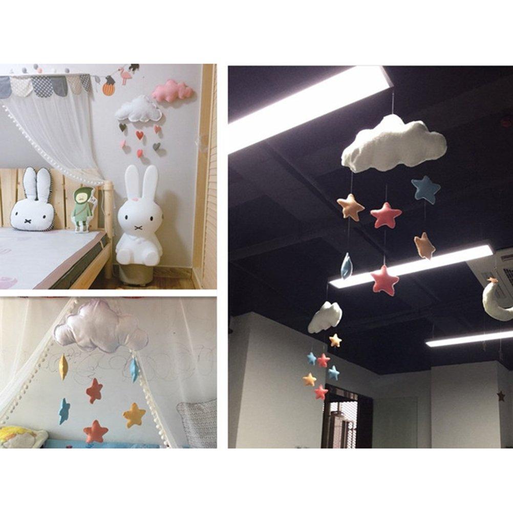 Funda para Oulii Cloud decoraciones colgantes Coraz/ón Guirnalda De Techo para habitaci/ón de los ni/ños beb/é ducha
