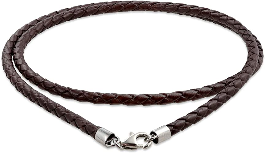 Herren Damen Unisex Hand-Woven Geflochten Leder 2 in 1 Armband Halskette xk