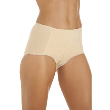 36d202f085d49 Camille Womens Ladies Underwear Beige Cotton Control Shapewear Multipack Briefs  10 12