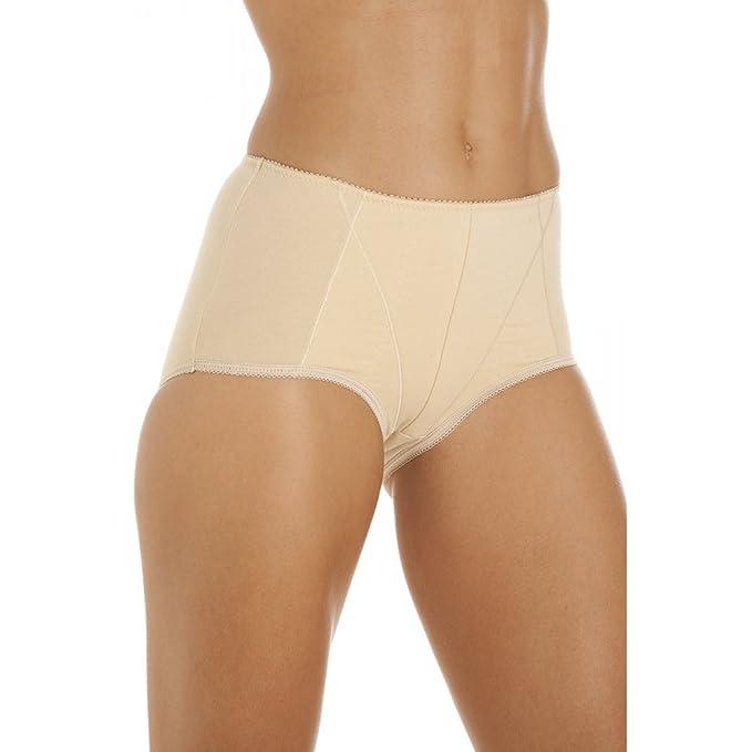 38c9cfda7d129 Camille Womens Ladies Underwear Beige Cotton Control Shapewear Briefs 6 8  BEIGE