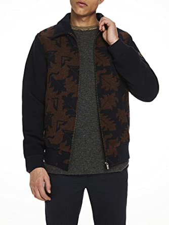 Scotch & Soda Jacquard Wool Jacket, Chaqueta para Hombre ...
