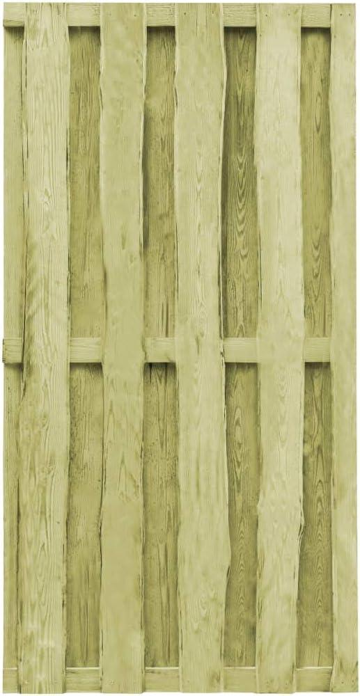 ghuanton Puerta de jardín Madera de Pino impregnada FSC 100x197 cm ...