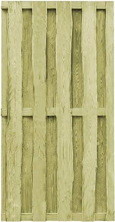 ghuanton Puerta de jardín Madera de Pino impregnada FSC 100x197 cm verdeBricolaje Vallas de jardín Puertas de jardín: Amazon.es: Hogar