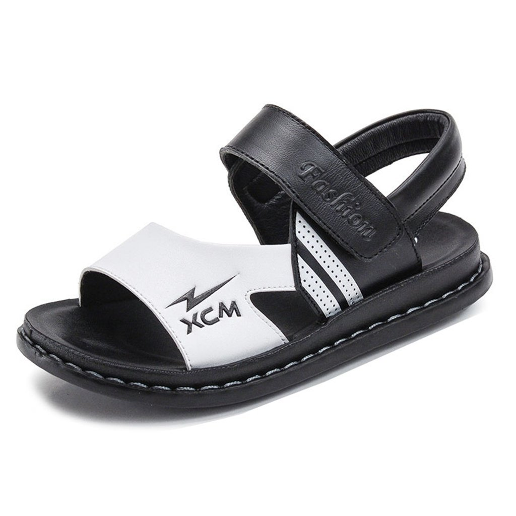 GIY Boys Girls Synthetic Leather Sandals Summer Athletic Open-Toe Adjustable Strap Kids Shoes(Toddler/Little Kid/Big Kid)