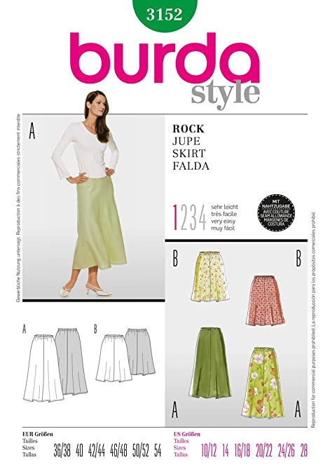 Burda Craft Sewing Pattern 3152 - Skirt Sizes: One Size: Amazon.co ...