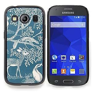 Stuss Case / Funda Carcasa protectora - Ciervo Naturaleza Primavera Azul Blanco Mármol - Samsung Galaxy Ace Style LTE/ G357