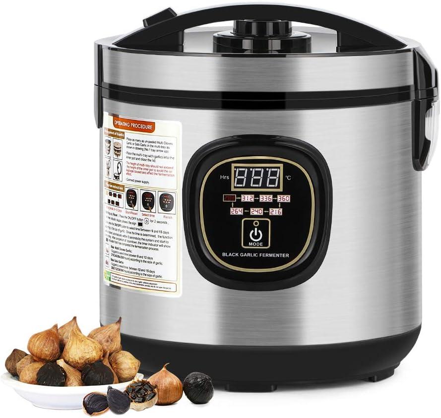 NEX 6L Black Garlic Fermenter, Full Automatic Garlics Maker Intelligent Garlic Cooker, Large Capacity, Grey
