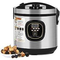 NEX Fermentador de ajos negro de 6 L, completamente automático para hacer ajos, cocina inteligente, gran capacidad, gris