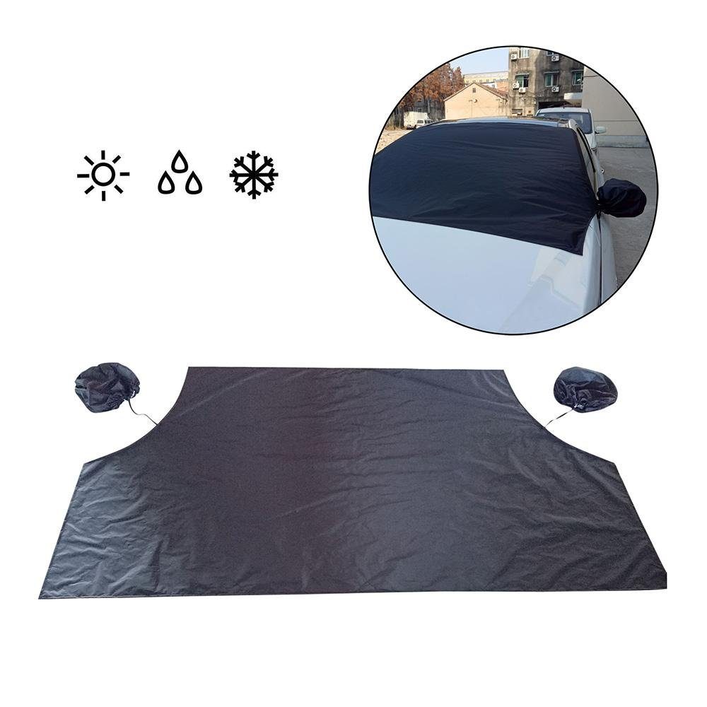 Car Windshield Cover Magnetic, Frost Guard Mirror Snow Cover Double Side Ice Shield Design, Sunscreen, Water, Dust, Scratch All Weather Protection - Fits Most Cars, Trucks, SUV(84.6'x 49') SUV(84.6x 49) Aolvo