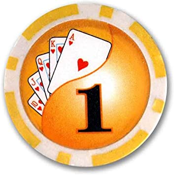 Makant EF-ME-19186 Poker Chips Casino Laser 50 /´er Auswahl Deluxe 1$ Gelb