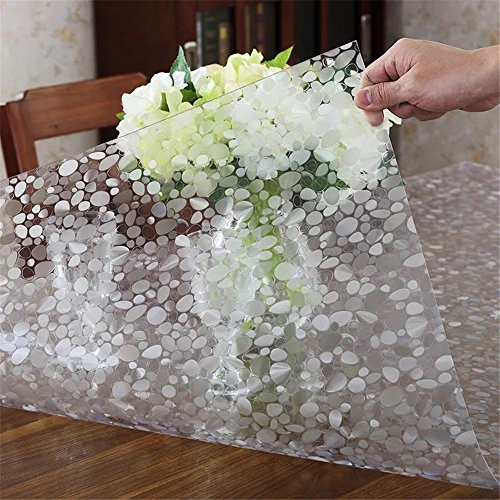 LovePads Multi Size 1.5mm Thicken PVC Table Protector Plastic Vinyl Tablecloth Cover Kitchen & Dining Room Wooden Furniture Protective Pads - 24 x 36 Inches (61 x 91.5cm)