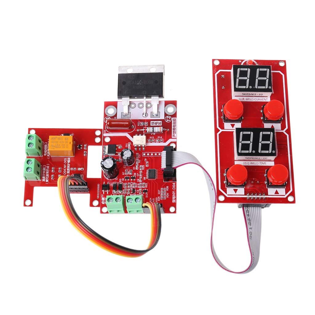 Tablero de control del módulo del controlador de transformador BIGbirdyi NY-D07 para soldadora neumática por puntos: Amazon.es: Bricolaje y herramientas