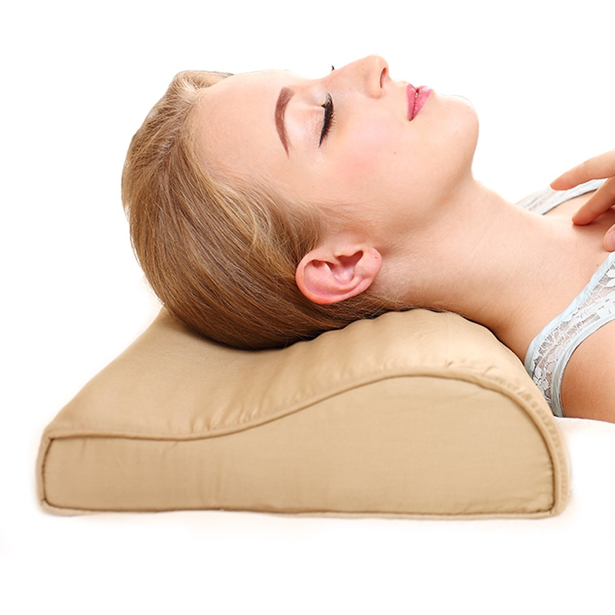 Chiropractic Cooling Neck Pillow (Pale Brown)