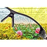 Hydroponics Glasses - Grow Room Glasses Eye Proctection and Colours Shift Glasses with 2 Interchangeable Lenses for HID, HPS & LED Lights