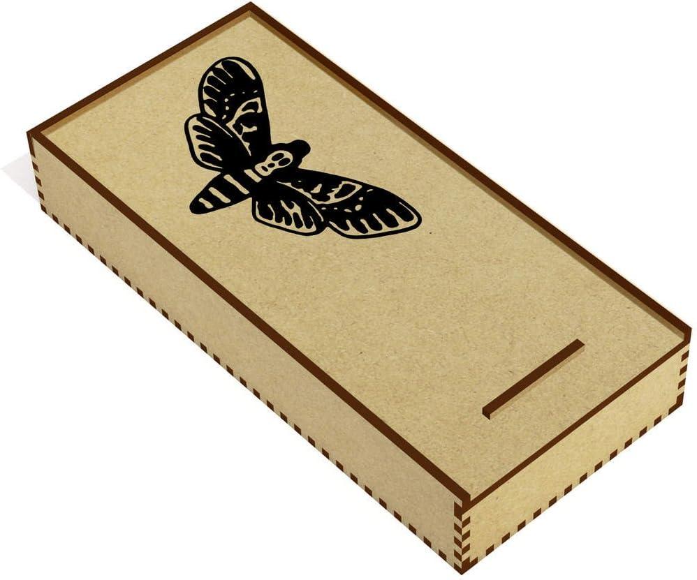 Azeeda Polilla de la Cabeza de Muerte Estuche de lápices de Madera (PC00014933): Amazon.es: Juguetes y juegos
