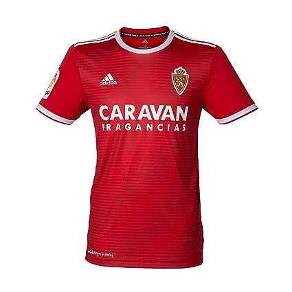 adidas Real Zaragoza Segunda Equipación 2018-2019, Camiseta, Red-White, Talla