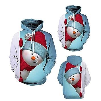 Unisex Muñeco de nieve Sudadera con capucha de Navidad Sudaderas con capucha Sudaderas Hombres Mujeres Divertido
