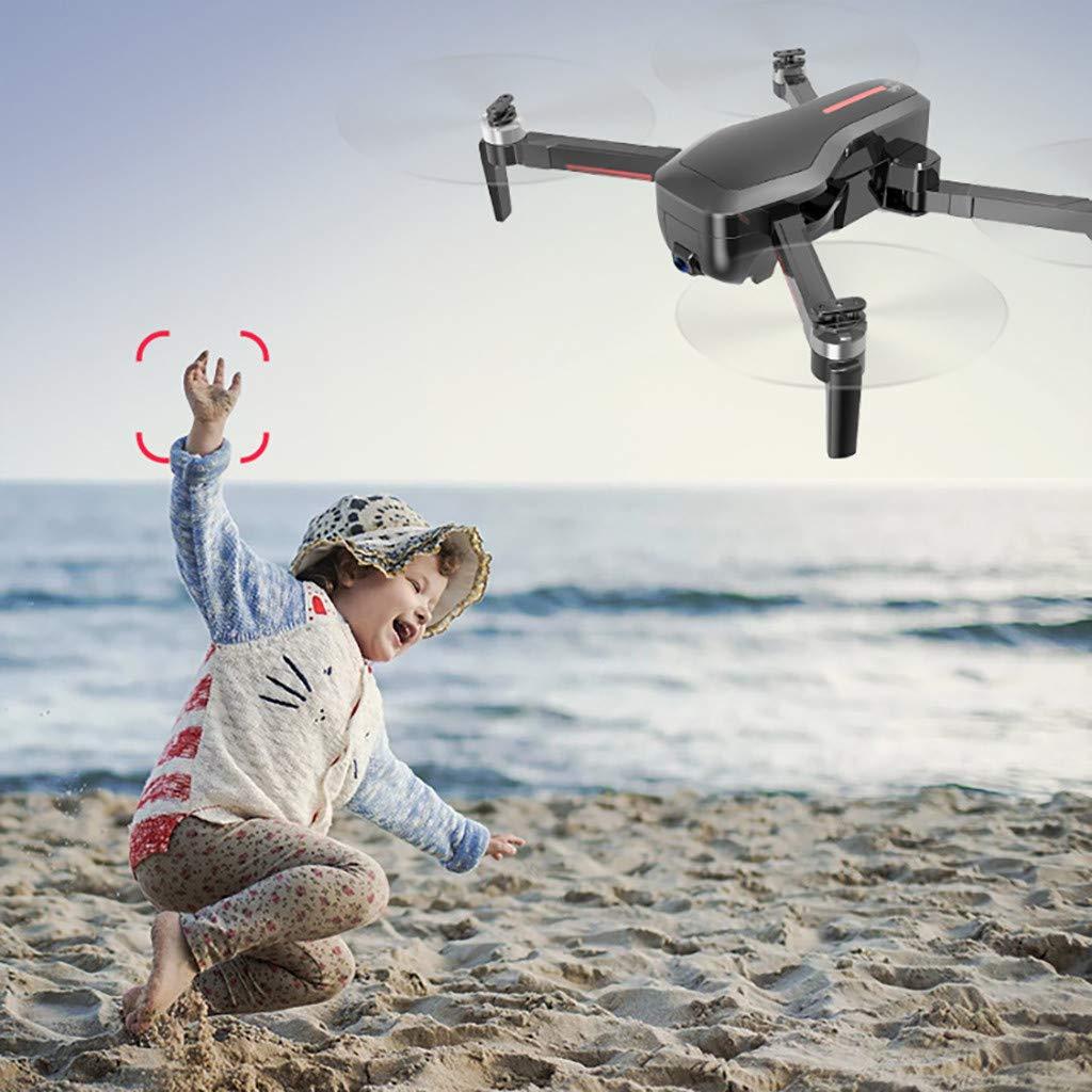 B schwarz Faltbare Drohne, CHshe Rc Quadcopter Rtf Gps 5G Wifi Fpv Bürstenlos Selfie Drohne Mit 4K Ultra Clear Kamera, 2,4 Ghz Headless Modus Optischer Fluss Positionierung Schwebeflug Gestensteuerung