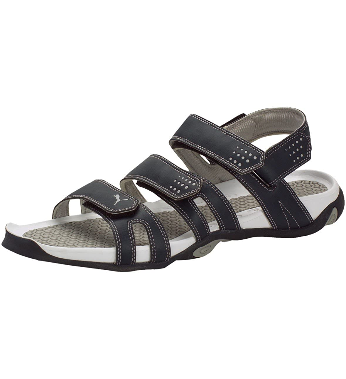 a1dd8fdbb043 Puma Men s Insignia Blue and Light Grey Sandals and Floaters - 9 UK India  (43 EU)  Amazon.in  Shoes   Handbags