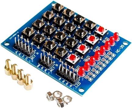 Teclado matricial 4X4 para módulo Arduino Array 16 botones ...