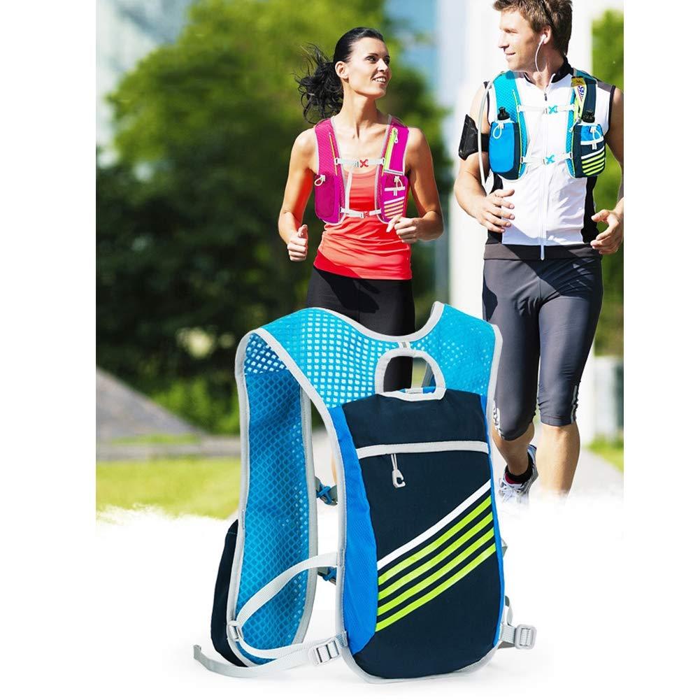 MEMIND Moda Femenina Bolsa de Agua al Maratón Aire Libre Mochila de Alta Capacidad Maratón al de la Bicicleta Que Monta Hombre multifunción Movimiento Mochila,Azul ec445a