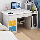 Desktop Home Computer Desk, Modern Simple Office Writing Study PC Laptop Table Multipurpose Workstation with Drawer…