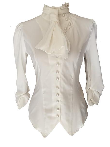 es Amazon Y Steampunk Ropa Para Goths Liso Mujer Camisas xqSnw16fF