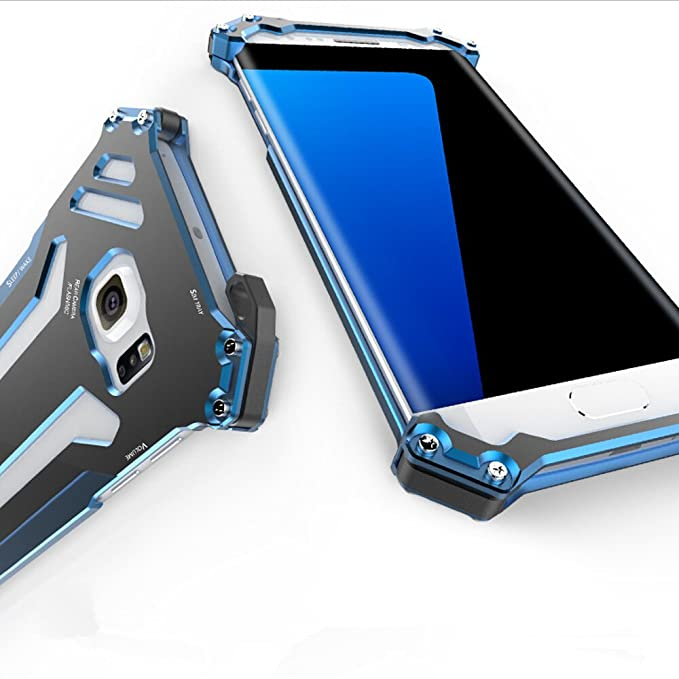 newest 24018 85054 Galaxy S7 Edge Case, Lwang Aluminum Metal Shock Proof Frame Bumper Double  Color Oxidation Aluminum Metal Case Cover for Samsung Galaxy S7 Edge (r  just ...