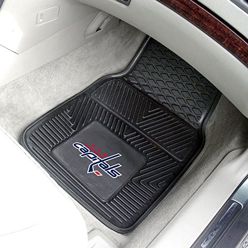 Fanmats Home Indoor Outdoor Washington Capitals Sports Team Logo 2pc Heavy Duty Vinyl Car Floor Rug Mat (Washington Capitals Floor)
