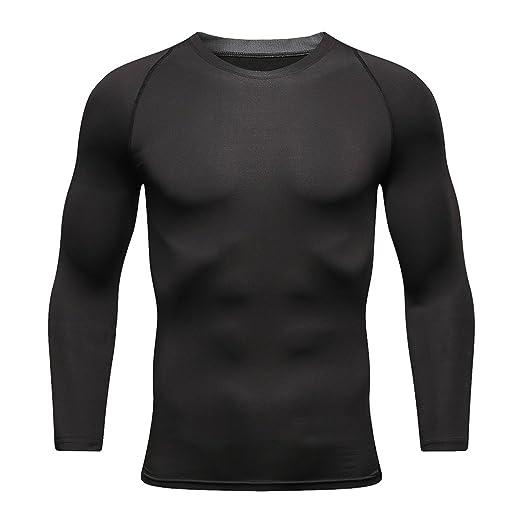 380c830372f5fd Amazon.com: KUQIURW Mens Long Sleeve T Shirts Cool Dry Compression Shirt  Long Sleeve Workout Shirts for Men: Clothing