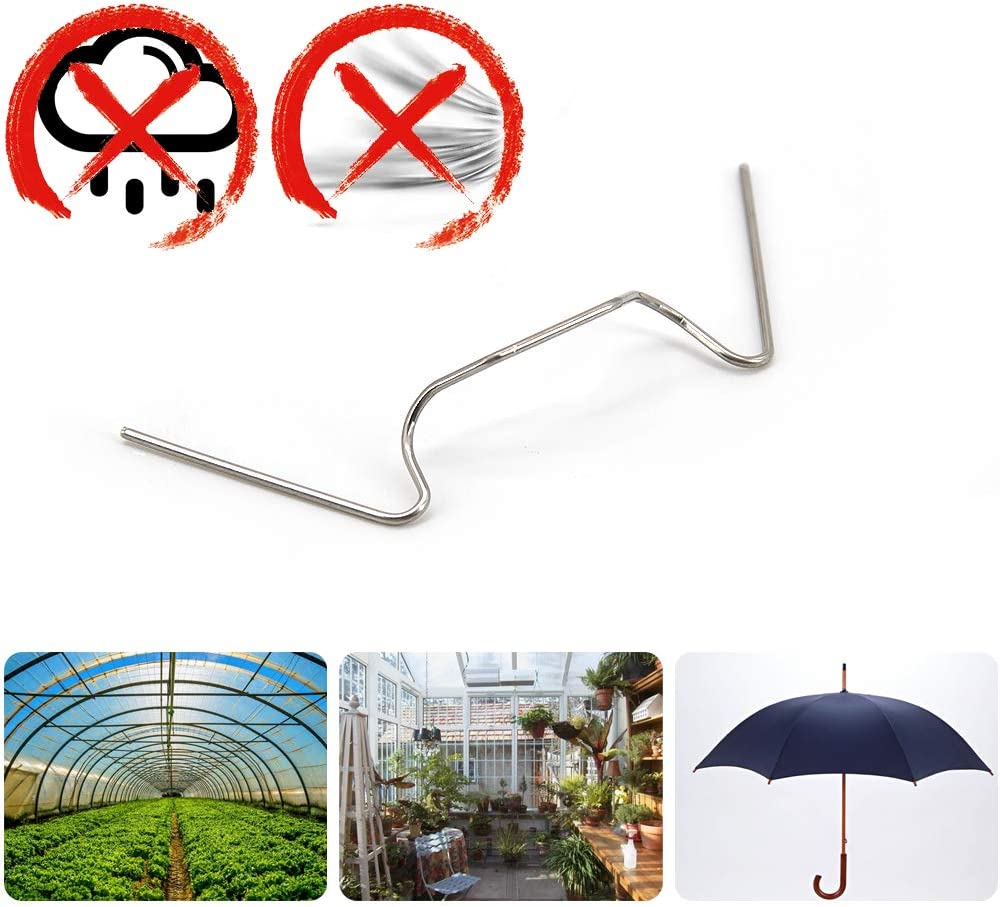 W Type Fixing Clips For Greenhouse Fixture Skystuff 75 Pcs Greenhouse Glazing Clips Stainless Steel Stainless Steel Glass Clamps for Greenhouse 1.2mm Thick