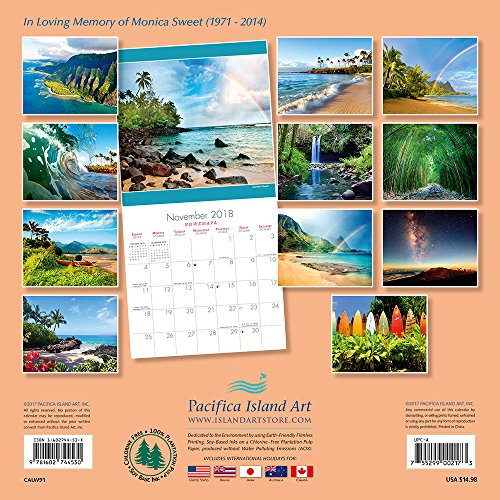Hawaii 2018 Deluxe Wall Calendar - Hawaii Landscapes by Michael & Monica Sweet Photo #3