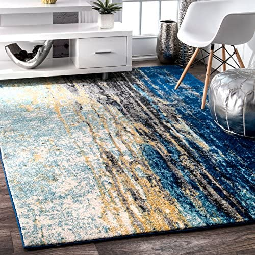 nuLOOM Traditional Waterfall Vintage Abstract Area Rug, 8 x 10 , Blue