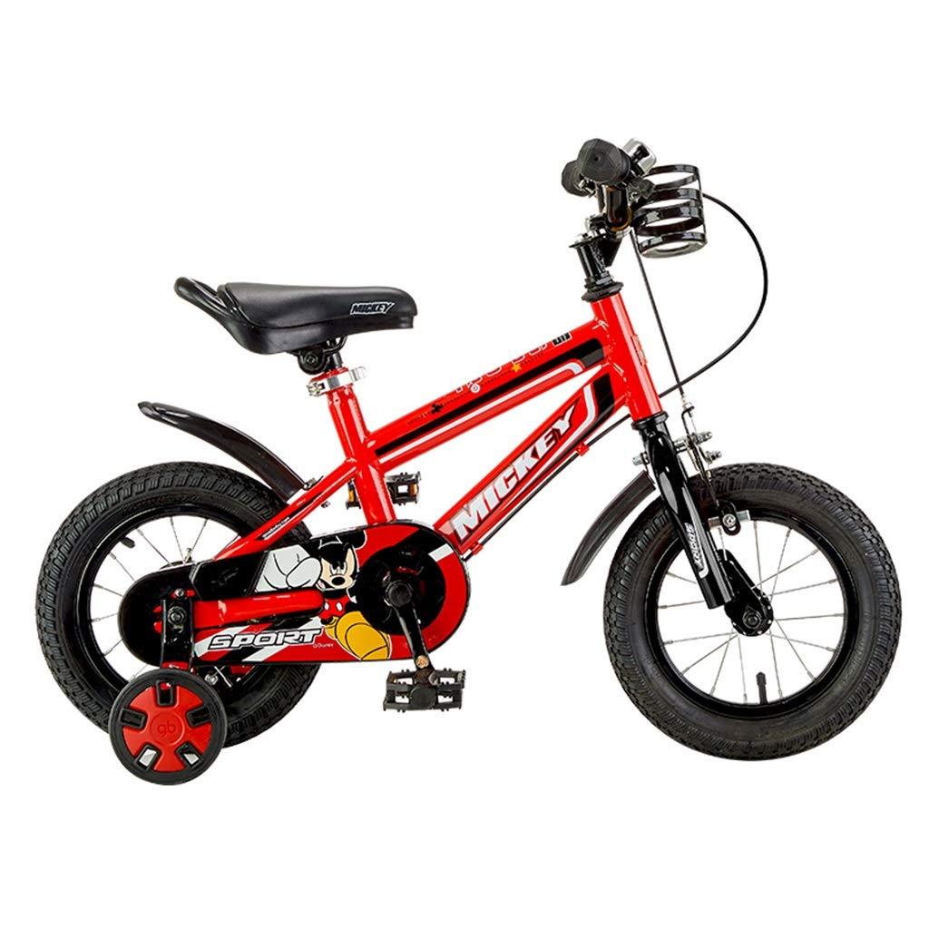 子供用自転車 2-4-6-8歳 生徒 アウトドアスポーツバイク 12,14,16インチ 自転車 女の子 バイク 男の子 自転車 子供用ギフト 14inches レッド B07P38YN2W