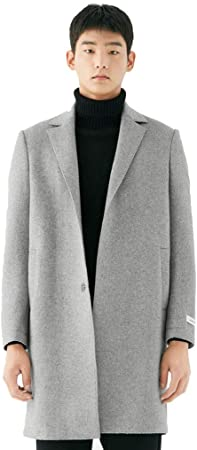 Manteaux Manteau en laine pour hommes coupe vent à col long